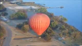 preview picture of video 'Balloon flight over Harties'