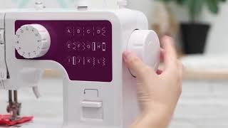Betriebsvideo -----  Mini Multifunktion Elektrische Nähmaschine 12 Stich LED Fußpedal
