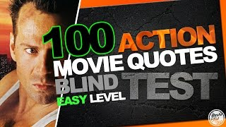 BEST 100 ACTION MOVIE QUOTES BLIND TEST (Biggest Easy Film Quiz)