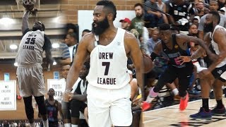 James Harden vs Frank Nitty FULL BATTLE DUEL ANGELS Drew League week 9 !!!