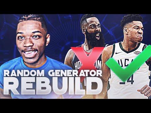 Random Player Generator Rebuilding Challenge in NBA 2K19