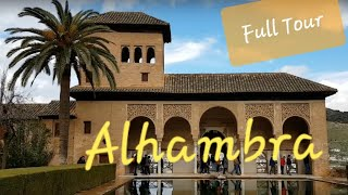 ALHAMBRA Granada Walking Tour | Amazing Islamic Palace in Spain 🇪🇦 Andalusia Trip #1
