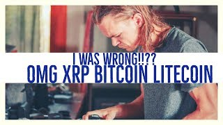 I WAS WRONG! OMG, Ripple (XRP)DGB, LITECOIN & BItcoin- (ARCANE BEAR)
