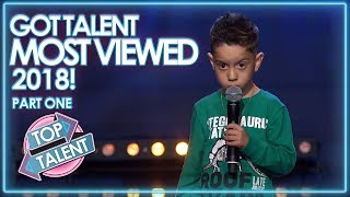 MOST VIEWED Got Talent Auditions 2018 - Part One! | Top Talent