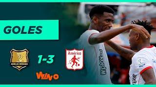 Águilas Doradas vs América (1-3)   Liga BetPlay Dimayor 2021-2 - Fecha 2
