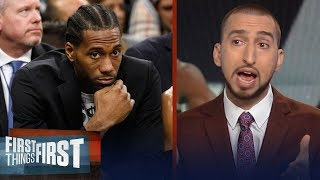 Nick Wright weighs in on Spurs drama between Kawhi and Popovich   FIRST THINGS FIRST