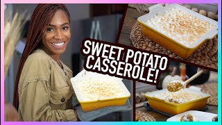COOK WITH ME for Friendsgiving! Sweet Potato Casserole by VICKYLOGAN