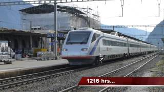 preview picture of video 'Swiss Trains: Gotthard route, Lugano, Wed 01Jan14'