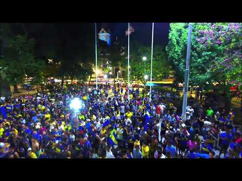 Los festejos de Boca Campeón en la plaza 25 de Mayo de Concordia