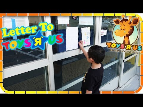 Tiger Write Letter to Toys R US After Store Closed!