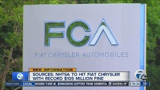US to hit Fiat Chrysler with record $105M fine