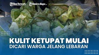 Kulit Ketupat Mulai Banyak Dicari Warga Bojonggede Bogor H-2 Jelang Lebaran