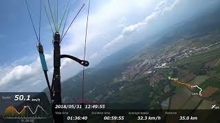20180531スロベニアでパラグライダー・リヤックからクロカン
