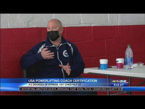 Local gym holds power lifting coaching certification courses - YouTube