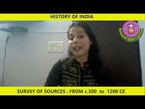 SURVEY OF SOURCES FOR C. 300- 1200 CE (ENGLISH MEDIUM) By - RAVINA MEENA
