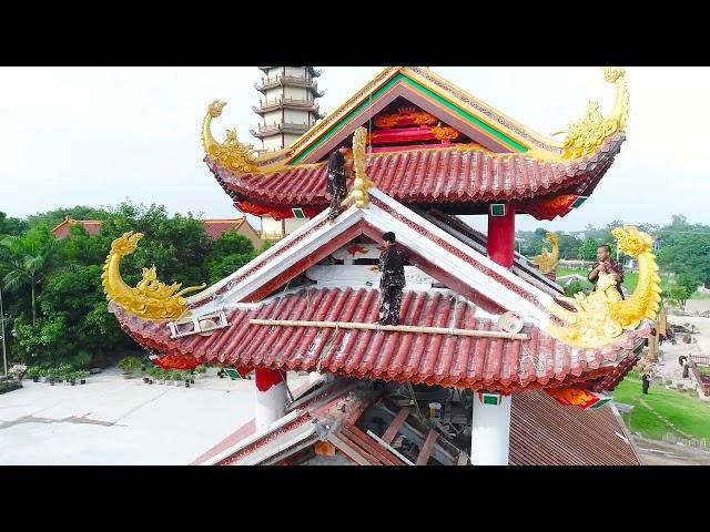 Flycam Công Tác Chuẩn Bị Lễ Hội Hoa Hồng Tri Ân Cha Mẹ - Chùa Khai Nguyên 2017