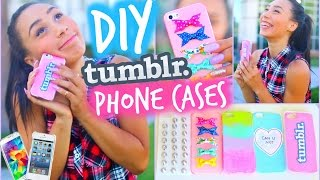DIY 5 Easy Phone Cases (Studded, Ombre & More) | Tumblr Inspired | MyLifeAsEva