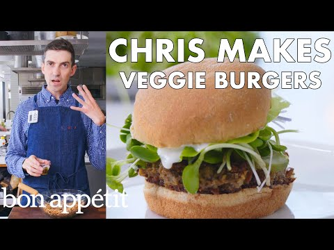 Download Chris Makes Veggie Burgers | From the Test Kitchen | Bon Appétit Mp4 HD Video and MP3