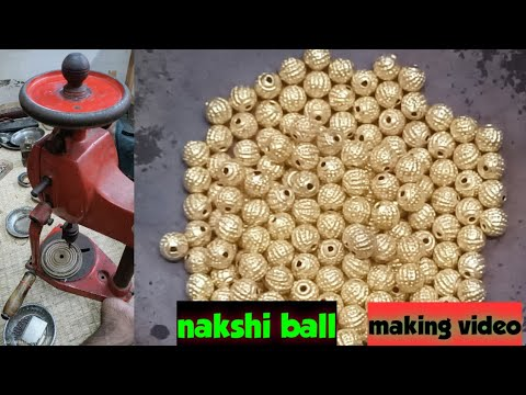 Gold nakshi ball designs, How to make temple gold ball, How to make gold hollow spheres, Naksi mani