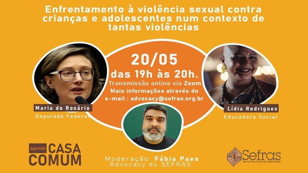 """PROGRAMA AGENDA CASA COMUM – """"Enfrentamento à violência sexual contra crianças e adolescentes"""""""
