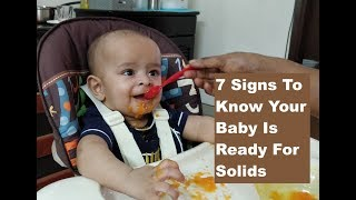 Is your Baby ready for Solid Food | Watch out for these 7 Signs