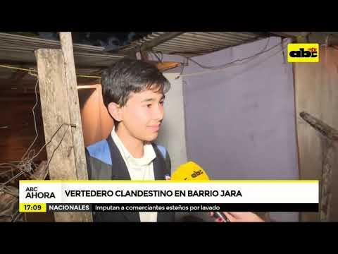 Vertedero clandestino en Barrio Jara