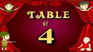 Learn Multiplication Table Of Four 4 x 1 = 4   4 Times Tables   Fun & Learn Video