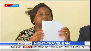 Public service vehicle operators react to the NTSA night travel ban