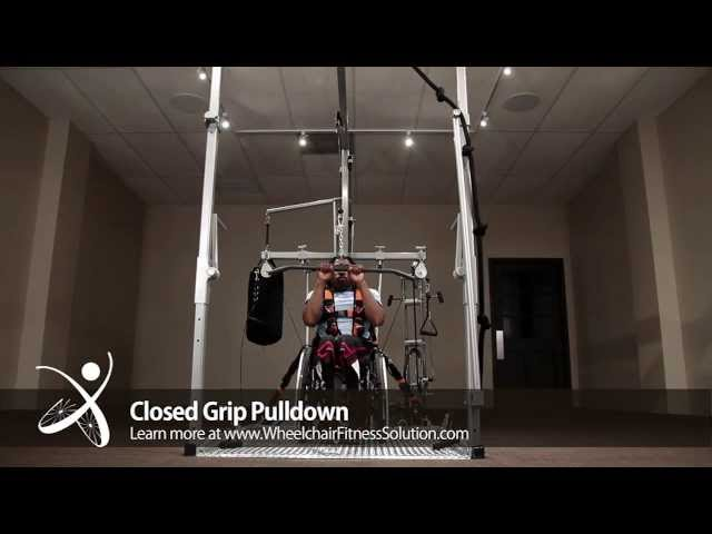 Wheelchair Fitness Solution | Exercise: Close Grip Pulldown (31 of 40)