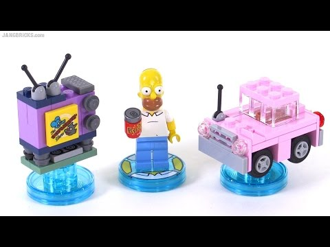 LEGO Dimensions toys: Simpsons Level Pack items reviewed