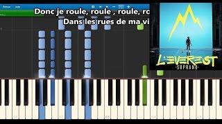 Soprano   Roule   Karaoke  Piano Synthesia Tutorial (+ Lyrics & Sheet Music)