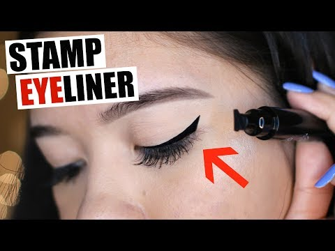 STAMP ON WINGED EYELINER Actually WORKS