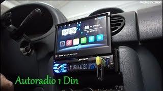 Pumpkin Autoradio 1 Din Android 8.1 Installation und Anzeige