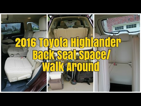 2016 Toyota Highlander Limited 3rd Row Seat E And Child Car Placement Family Friendly Daddy Blog