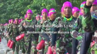 [Pasmar-1] 2016 Prajurit Marinir Wilayah Timur Siap Renang Selat Madura Pecahkan Rekor Muri
