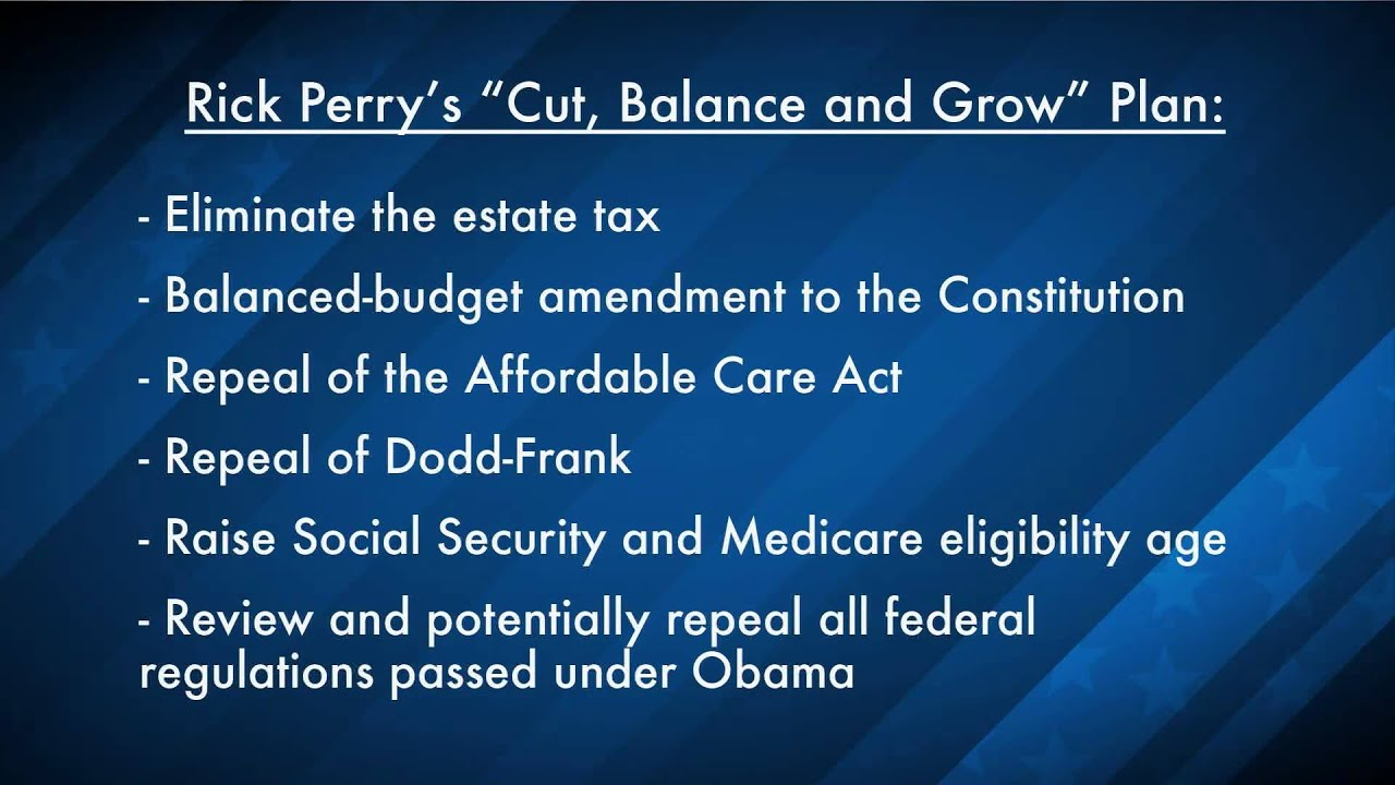 Rick Perry: Cut, Balance and Grow Plan (Breakdown) thumbnail