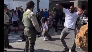 LAPD Got Served By Krump Dancers At George Floyd Protest Downtown LA
