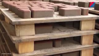 Сухопрессованная тротуарная плитка - процесс изготовления