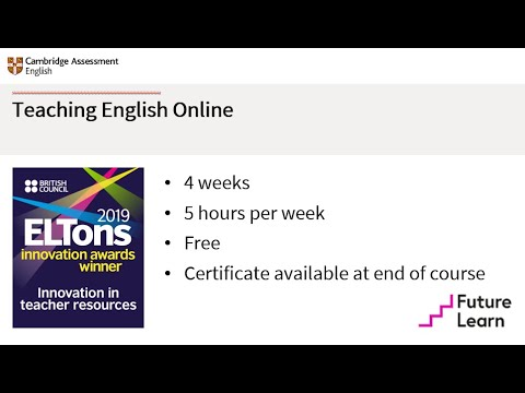 Teaching English Online | Free online course