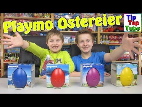 Playmobil Ostereier Spielzeug Unboxing Video Pirat Alpaka Meerjungfrau Fußballtor Kinderkanal