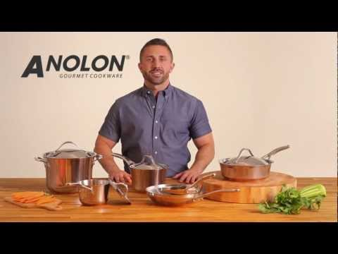 Nouvelle Copper Stainless Steel Cookware Line - Best Cookware Sets - Anolon