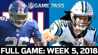 Carolina Panthers vs. New York Giants Week 5, 2018