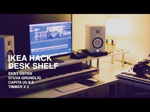 IKEA HACK - CUSTOM DESK SHELF