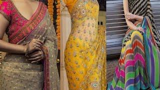New Model Designer Sarees Images In 2019//designer Net Sarees Models Images //net Sarees 2019