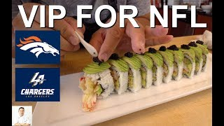 Alaskan King Crab Tempura Sushi Roll | How To Feed 2 NFL Players and WIN
