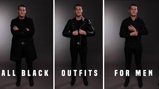 5 Easy Outfits For Men (ALL BLACK) 2020 • Rittenhouse Men