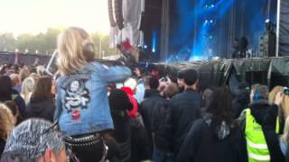 The Darkness - Everybody Have a Good Time (including the rocking kid) at SRF 2012