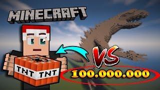GODZILLA VS 100.000.000 TNT - Minecraft Nghịch Ngu