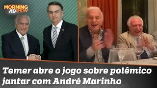 Temer nega constrangimento com Bolsonaro após rir de imitação