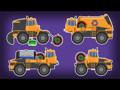 Transformers | Garbage Truck | Sweeper Truck | Water jet Truck